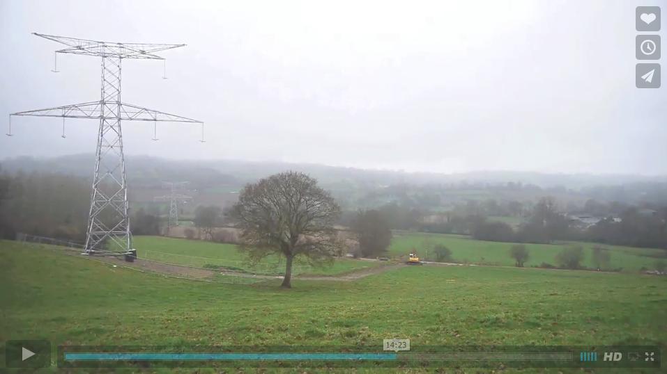 Film «Dans la brume électrique» l'arrivée de la ligne électrique dans le bocage normand